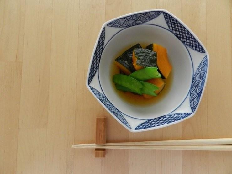 南瓜煮和荷蘭豆(#^^#)