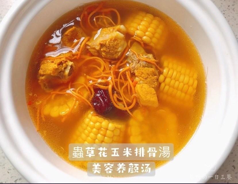 蟲草花玉米排骨糖 美容養顏越喝越靚