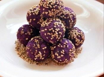 紫薯乳酪球