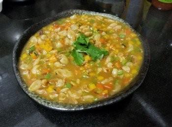 泰式雞醬三色甜椒煮水魷