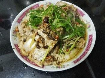 豆豉雞柳蒸鯇魚
