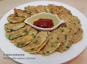 呑拿魚粟米韮菜煎餅 참치옥수수부추전