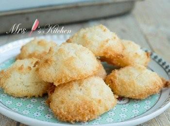 【三種材料】椰絲蛋白脆餅