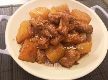 柱侯醬炆蘿蔔豬肋條