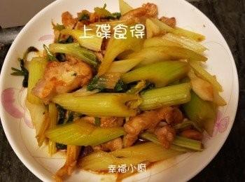 西芹炒雞柳