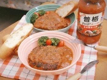番茄大蒜燉漢堡排