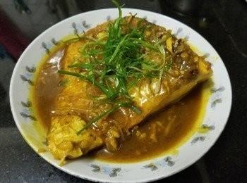 黃薑粉蝦米辣椒油燜鯇魚