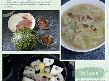 金華火腿瑶柱魚翅瓜湯