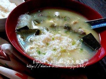 雪菜魚尾豆腐湯飯