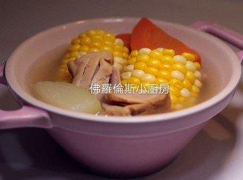 螺頭合掌瓜粟米蘿蔔豬展湯