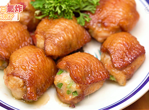 [氣炸鍋食譜] 蝦膠釀雞翼 Chicken wings filled with minced shr