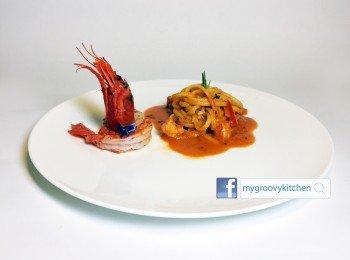 西班牙紅蝦扁意粉