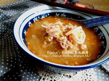 魚翅瓜鮮蝦粟米肉碎羹