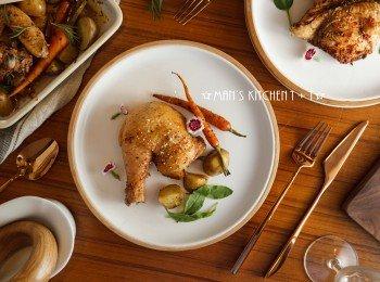 香料蔬菜烤雞-JIA Inc.個人鼎烤盤
